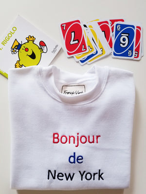 Kids sweater Unisex Bonjour de New York