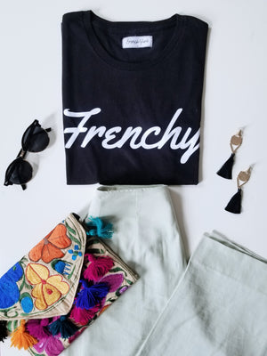 Women unisex T-shirt Frenchy Black