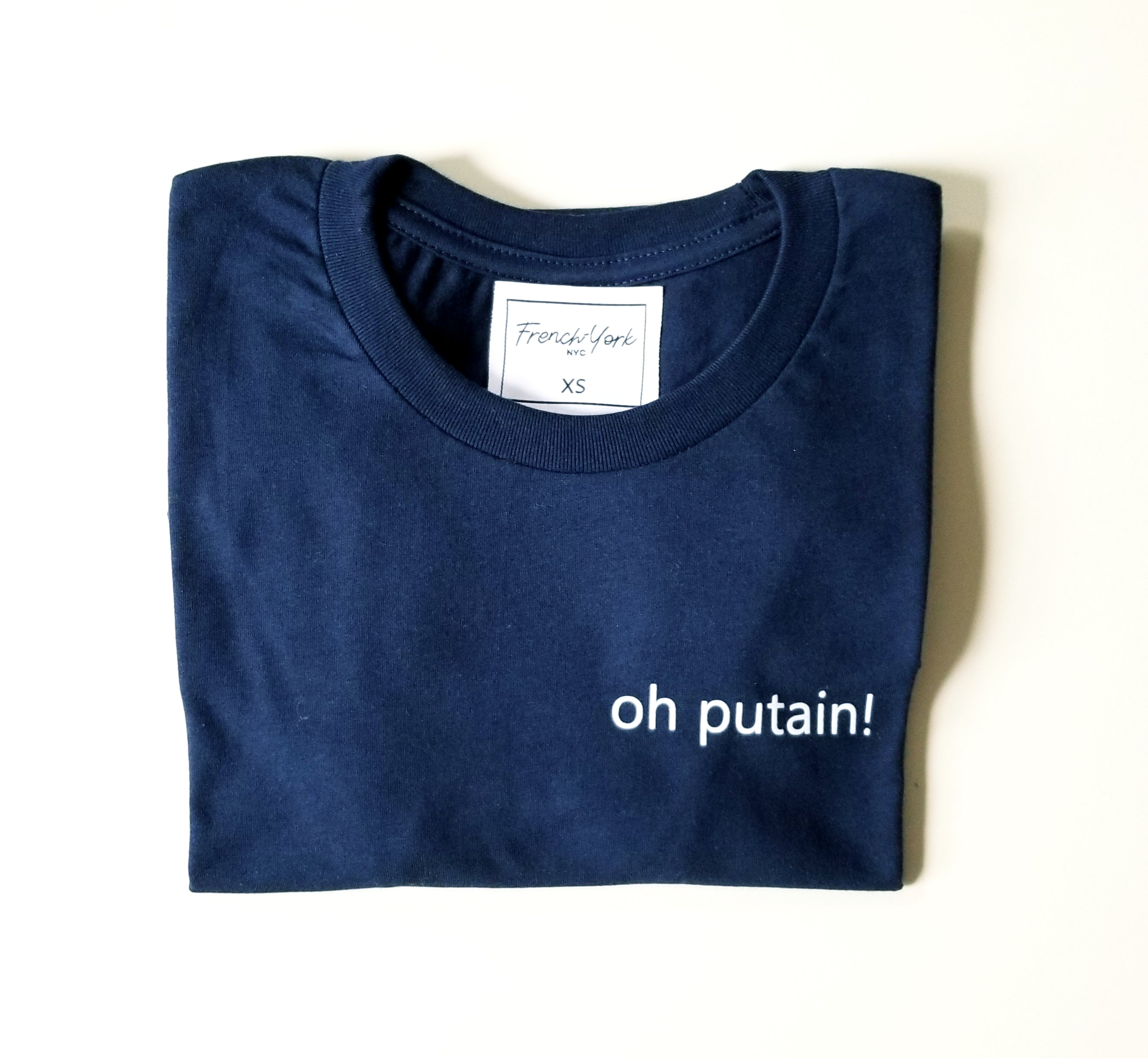 Men T-shirt unisex oh putain
