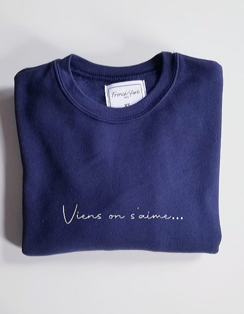 Men Sweater Viens on s'aime