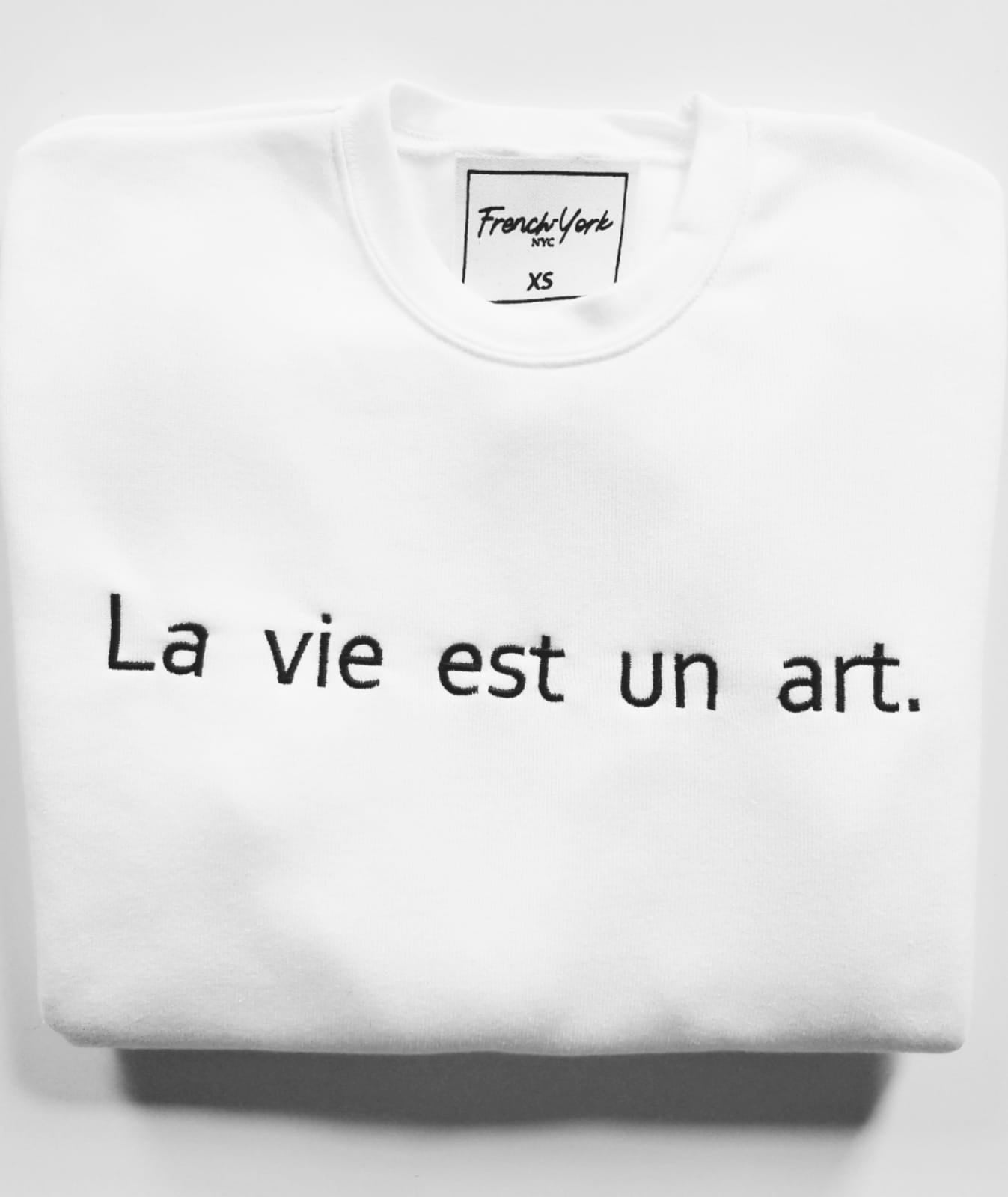 Men Sweater La vie est un art.