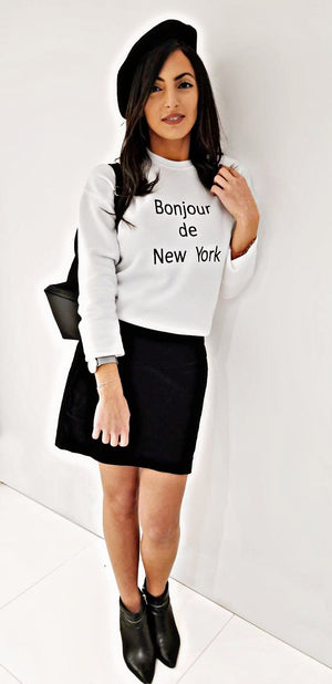 Women Sweater Bonjour de New York
