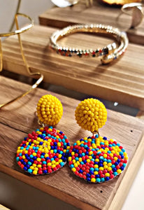 Multi-colors Seed Beaded Earrings