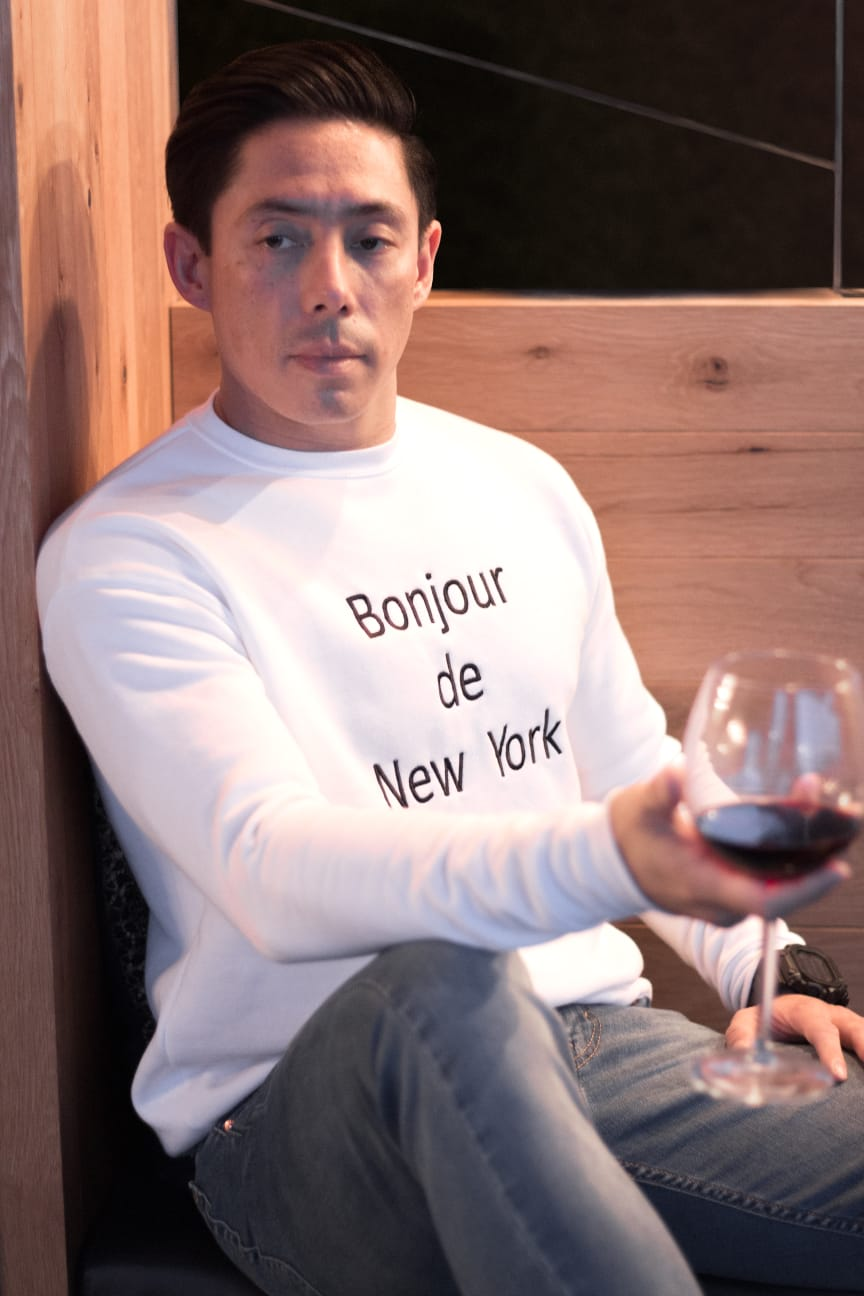 Men Sweater Bonjour de New York