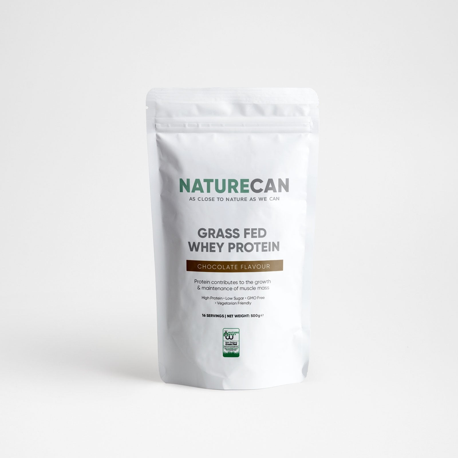 Grass-Fed Whey Protein-Chocolate-500g-Naturecan RU