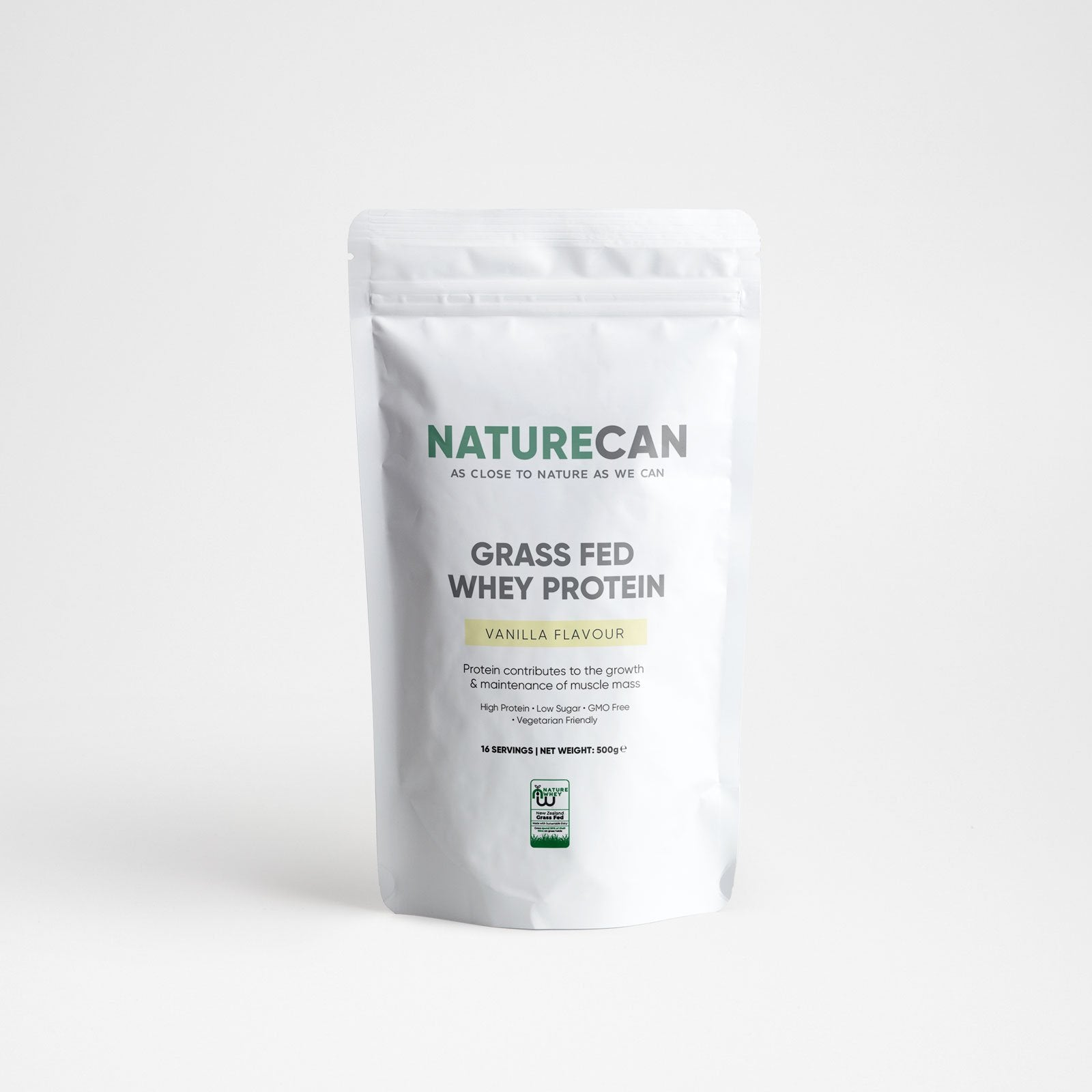 Grass-Fed Whey Protein-Vanilla-500g-Naturecan RU
