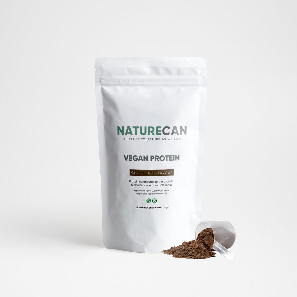 Vegan Protein Blend-Chocolate-1kg-Naturecan RU
