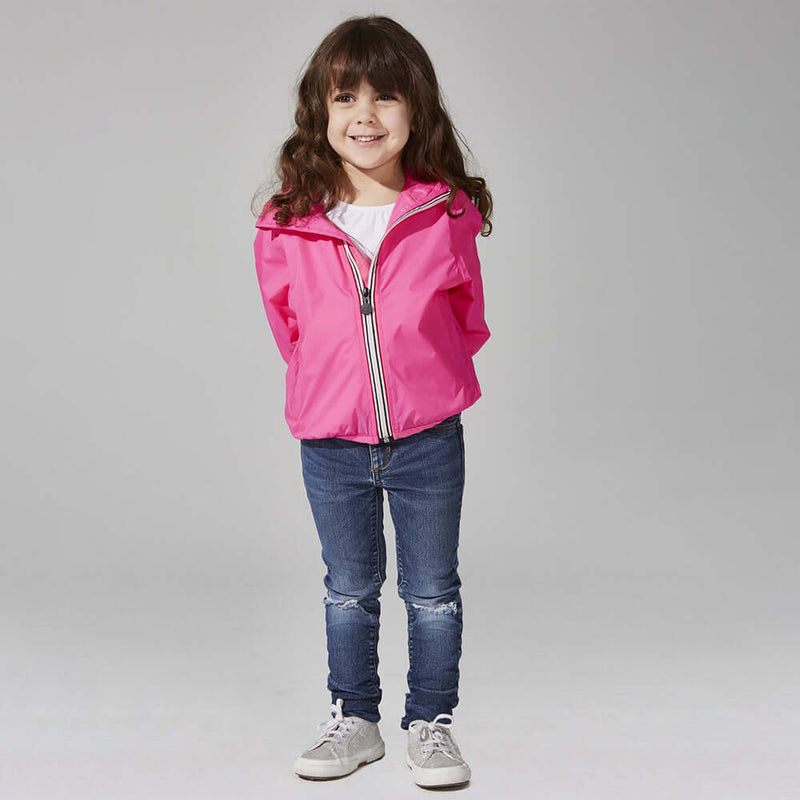 08 Lifestyle Pink Packable Rain Jacket