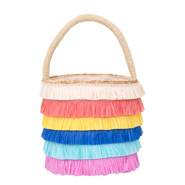 Meri Meri Raffia Fringed Bag