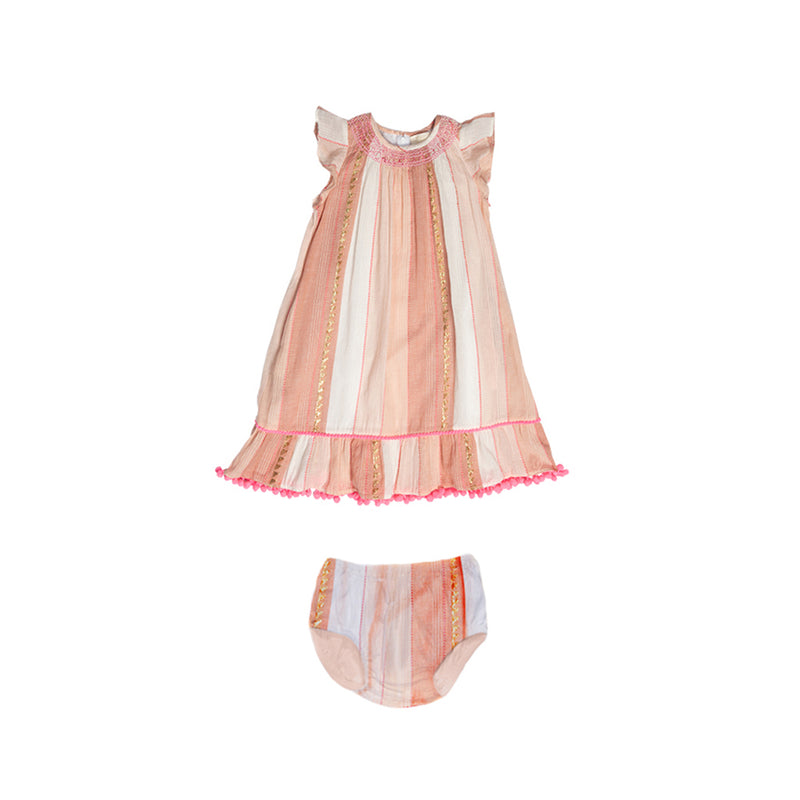 Pink Stripe Aymee Dress Set