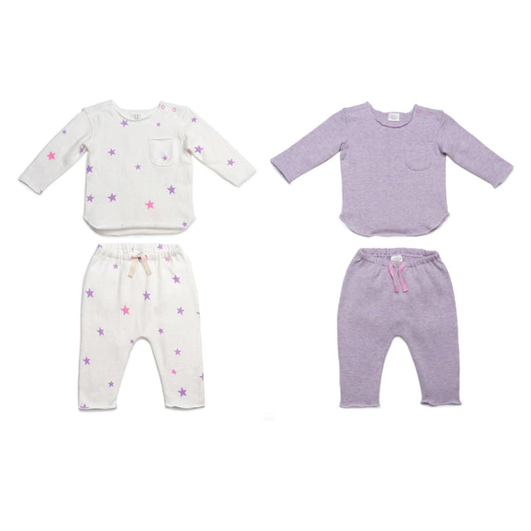 Purple Stars New Baby Gift Bundle