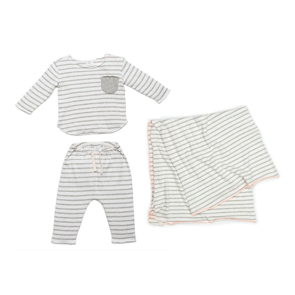 Grey Stripe New Baby Gift Bundle