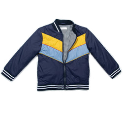 Navy Nylon Freddie Jacket