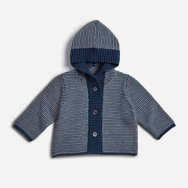 Archer's Bow Links Stripe Hooded Cardigan