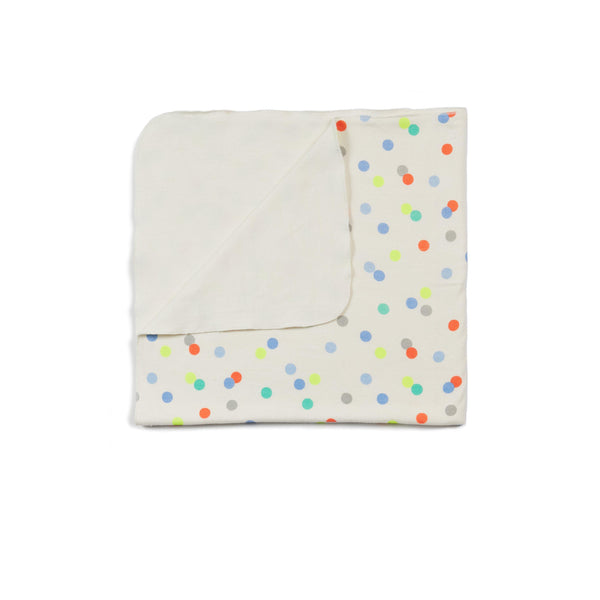 Dot Print Bobbi Knit Blanket