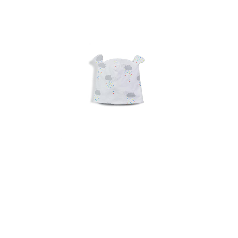 Cloud Print Jersey Baby Hat