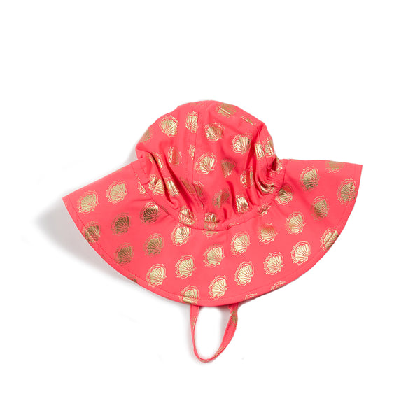Coral Shell Baby Beach Hat