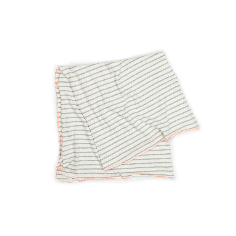 Grey Stripe Baby Blanket