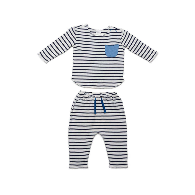 Blue Stripe Bobbi Set