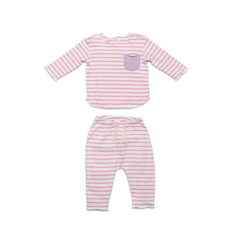 Pink Stripe Bobbi Set