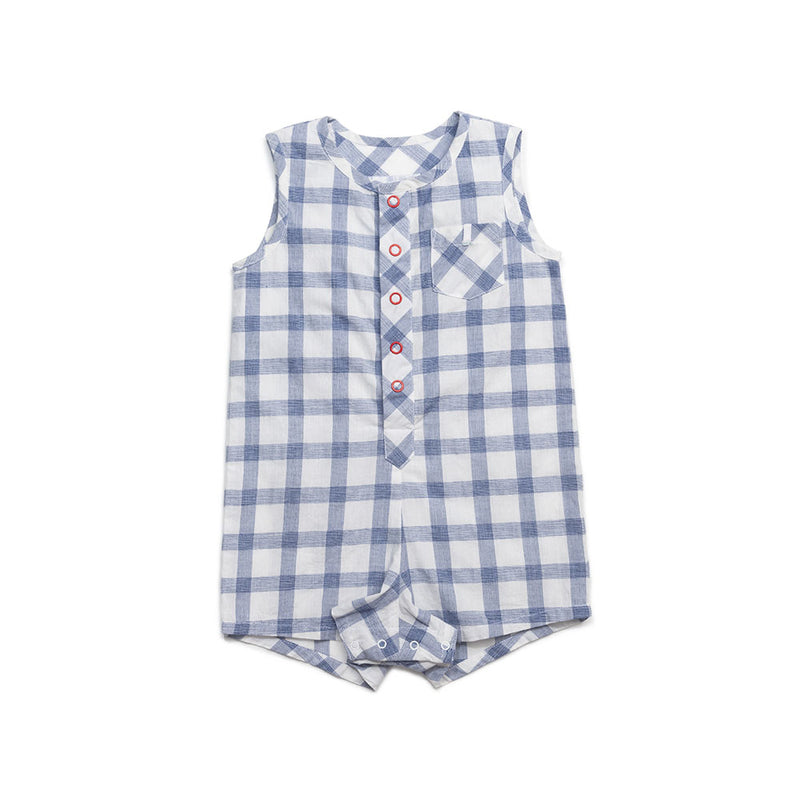 Checked Tanner Romper
