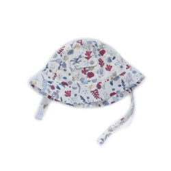 Seaside Print Poppy Hat