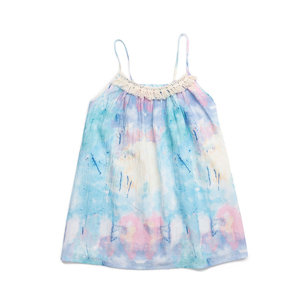 Splatter Print Tye Dye Ingrid Dress