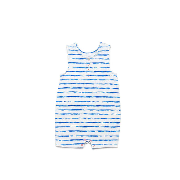 Blue Stripe Jeffrey Romper