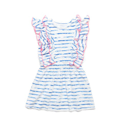 Blue Stripe Priscilla Dress