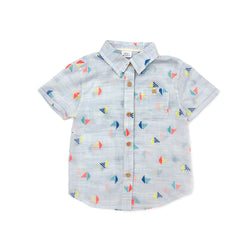 Embroidered Sailboat Adrian Shirt