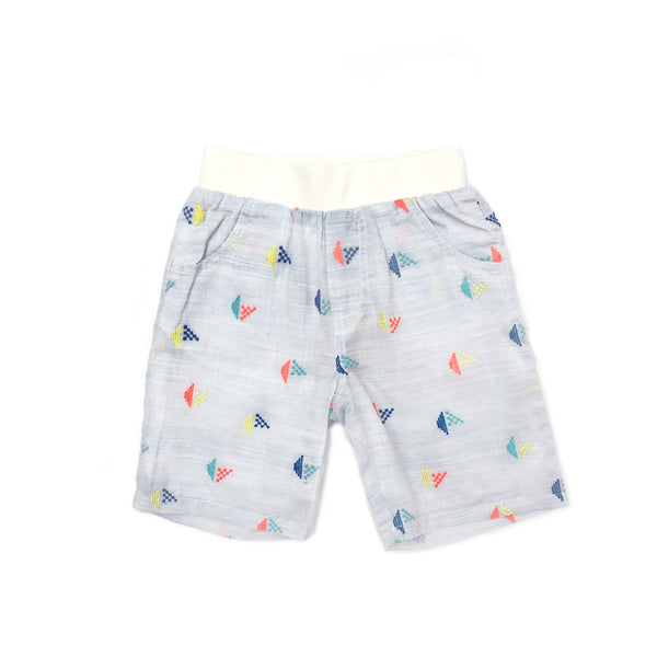 Embroidered Sailboat Shiffley Short