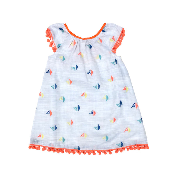 Embroidered Sailboat Kelsi Dress
