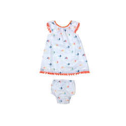 Embroidered Sailboat Astrid Set