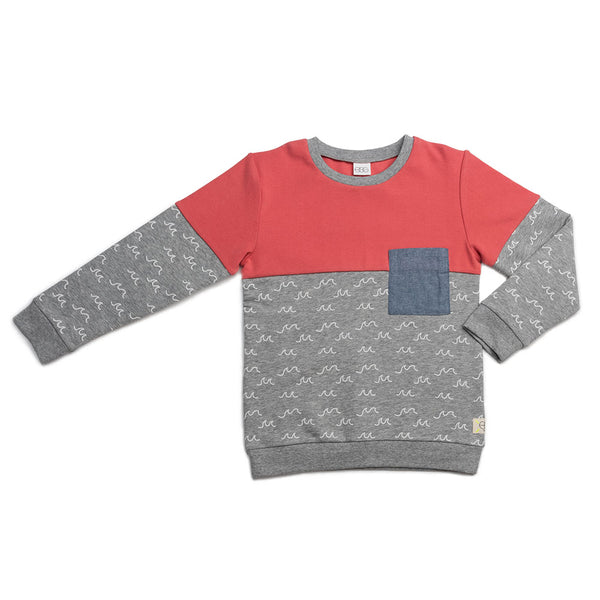Grey Wave Vinnie Sweater