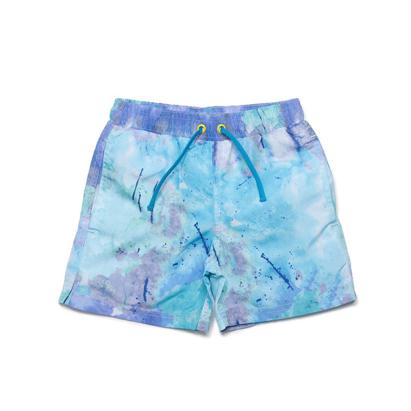 Splatter Print Tye Dye Tristan Swim Trunks