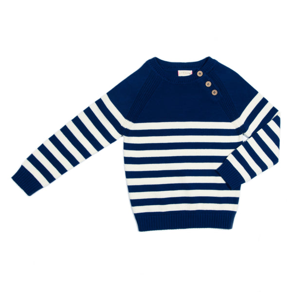 Navy Stripe Eli Sweater