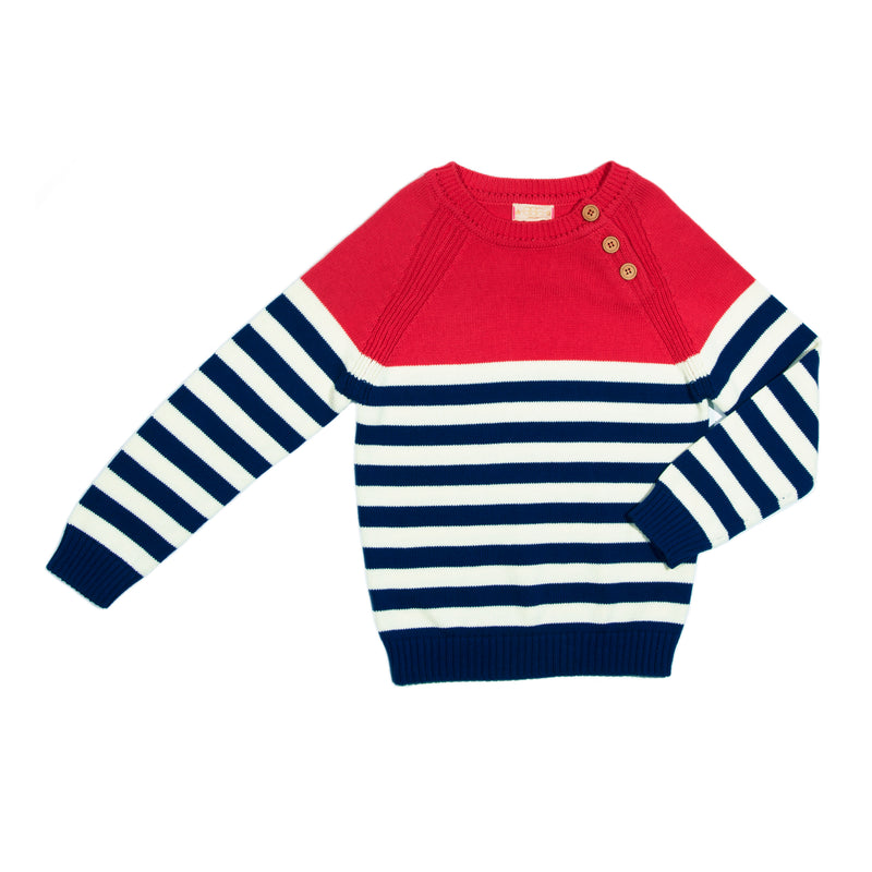 Red Stripe Eli Sweater