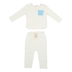 Light Blue Striped Bobbi Set