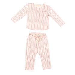 Pink Chevron Bobbi Set
