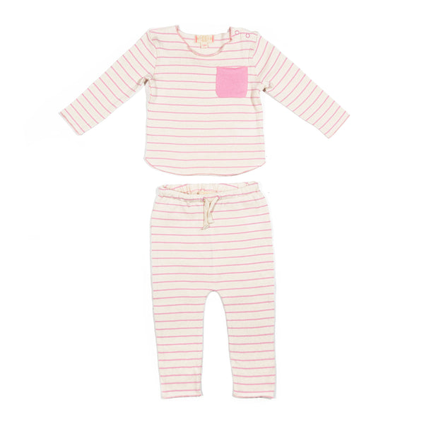 Light Pink Stripe Bobbi Set