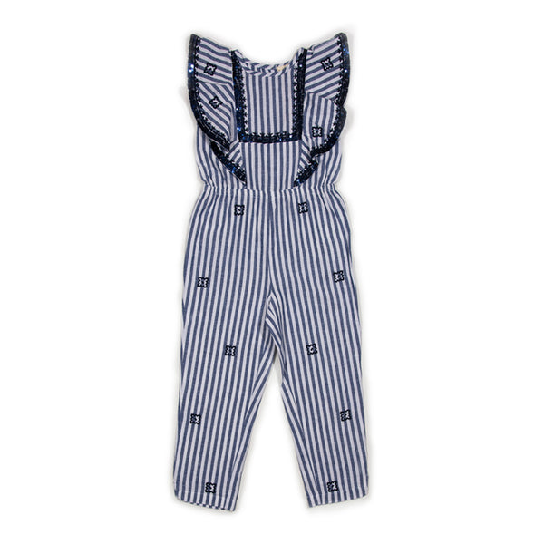 Stripe Embroidered Abella Jumpsuit