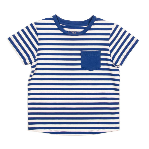 Blue Striped Brooke Tee