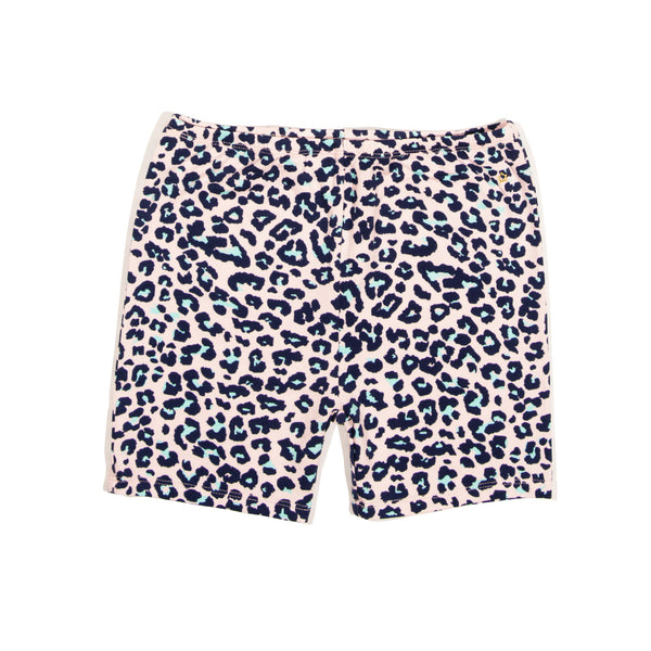 Pink Leopard Delta Bike Short