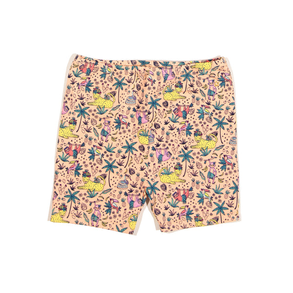 Jungle Print Delta Bike Short