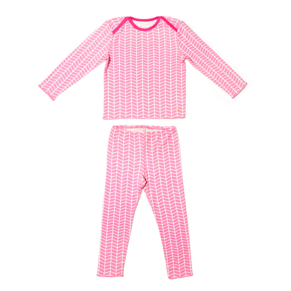 Pink Chevron Tegan Set