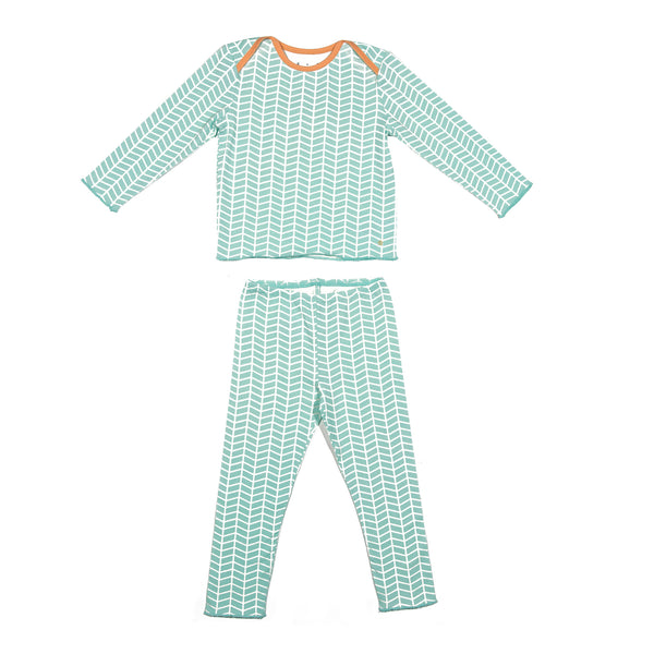 Teal Chevron Tegan Set