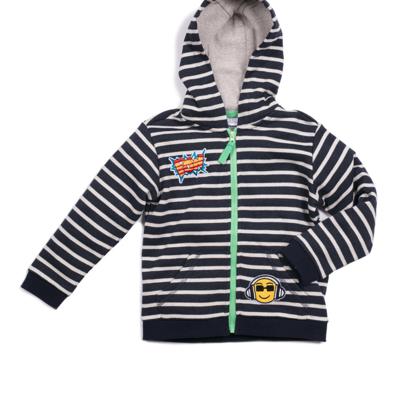 French Terry Stripe Eric Zip Up Hoodie