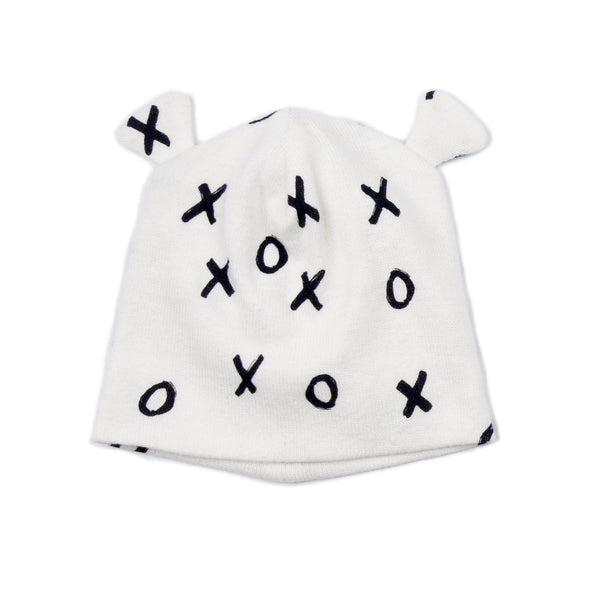 XO Print Cotton Baby Hat