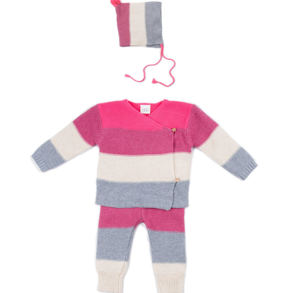 Pink Stripe Ryan 3 Piece Set