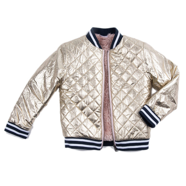 Quilted Gold Rosalie Jacket